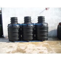Oczyszczalnia ścieków 3600 l trzykomorowa dla 7-8 osób
